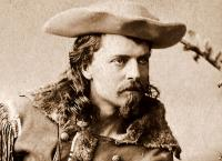 Buffalo Bill (William Frederick Cody, 1846-1917) auf einer 1880 in New York entstandenen Fotografie.