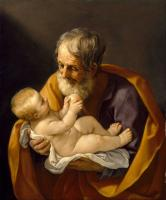 Saint Joseph and the Christ Child von Guido Reni