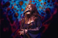Janis Joplin bei einem Konzert in New York im April 1969.