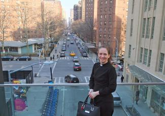 Die Pastorin Miriam Groß in New York.