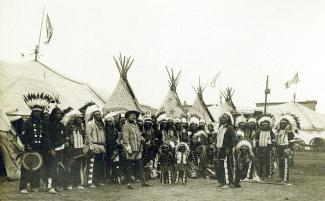 Buffalo Bill's Wild West Show 1890 in Rom.