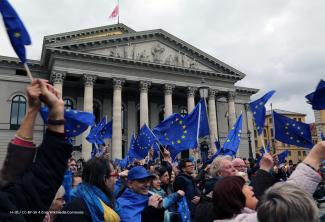 »Pulse of Europe«-Demonstration vor dem Nationaltheater am 19. März in München.