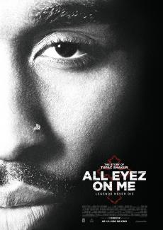 Filmplakat zu »All Eyez On Me« mit Demetrius Shipp in der Hauptrolle.