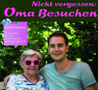 "Plakat für die Aktion ""Post Your Granny"""