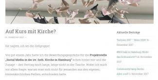 Screenshot Kirchengezeiten Blog