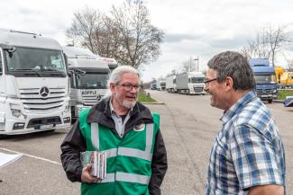 Truckerseelsorger Josef Krebs