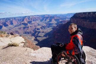 Sebastian Wächter im Grand Canyon